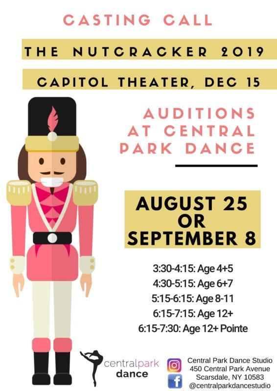 Central Park Dance   Nutcracker Auditions
